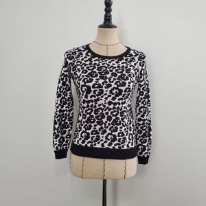Milly Minis Cheetah Jacquard Knit Pullover